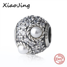 Hot sale 100% 925 Sterling Silver charms pear and clear CZ Beads Fit pandora Bracelets Fashion beads DIY Jewelry making Gifts hot sale 925 sterling silver charms dog footprint beads with cz stone fit pandora bracelets pendant diy jewelry making gifts