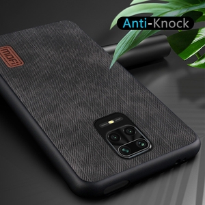 Image 5 - MOFi For redmi note 9s case for Mi Redmi Note 9 Pro max Cover Housing Silicone  shockproof jeans PU leather Black TPU Dustproof