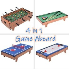 Multifunctional 4 In 1 Table Soccer Billiard Table Ping Pong Adult Snooker Game Board Holiday Party Game Desk Kids Toy Gift HWC
