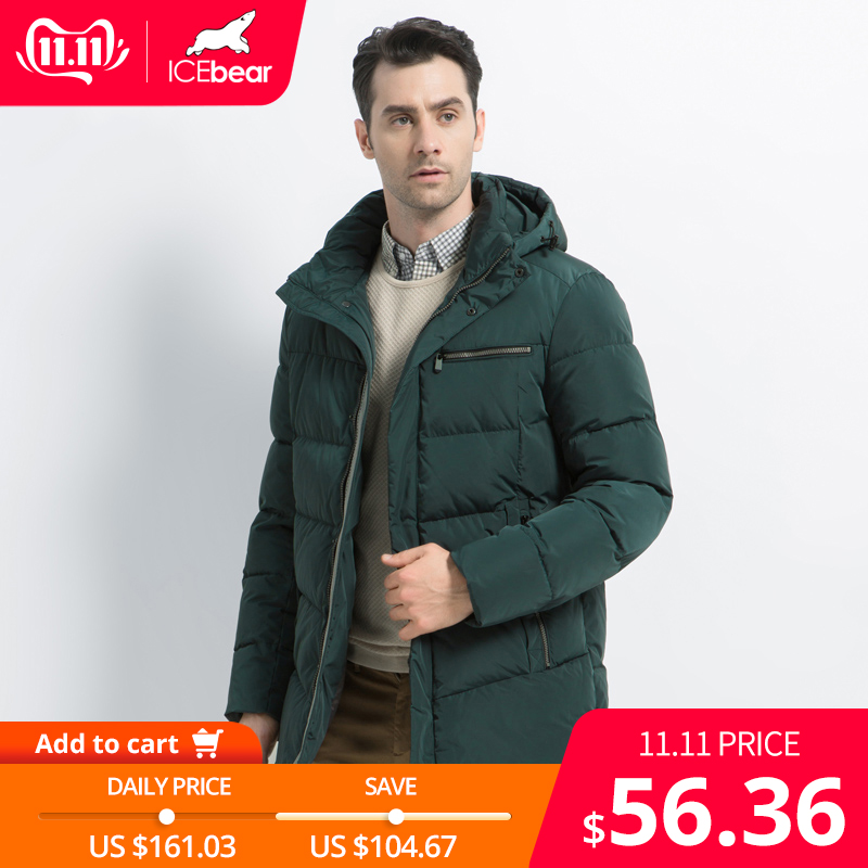 2019 nouveaux hommes manteau d'hiver de haute qualité homme veste mode vêtements pour hommes chaud mâle Parka MWD19835D
