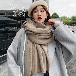 Брендовые женские зимние шарфы, теплый шарф, Корейская версия, все виды утолщенных теплых шалей INS, для девушек, художественная модель, студе...