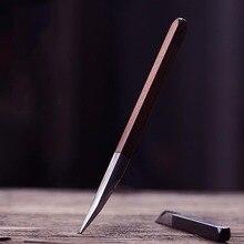 Longquan палисандр чайный нож из нержавеющей стали инструмент китайский чайный набор кунг-фу аксессуары Резак Cut Pu Er иглы чайная посуда инструменты