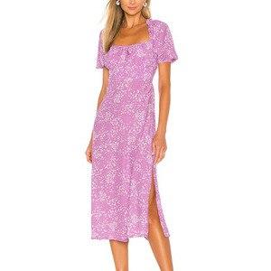 Летнее платье 2020 повседневное розовое платье женское с коротким рукавом длинное платье с принтом женская одежда vestidos