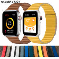 Leather loop strap For apple watch band 44mm 40mm Replacement iWatch series 5 4 3 2 1 watchbands bracelet 42mm 38mm Wristbands