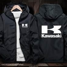 2020 Мужская ветрозащитная куртка для мотокросса для Kawasaki Racing Team MTB велосипедная куртка для езды на мотоцикле ветровка с капюшоном
