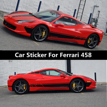 Car Sticker For Ferrari 458 Body Exterior Decoration Modified Sticker Rear Hood Roof Sticker Film