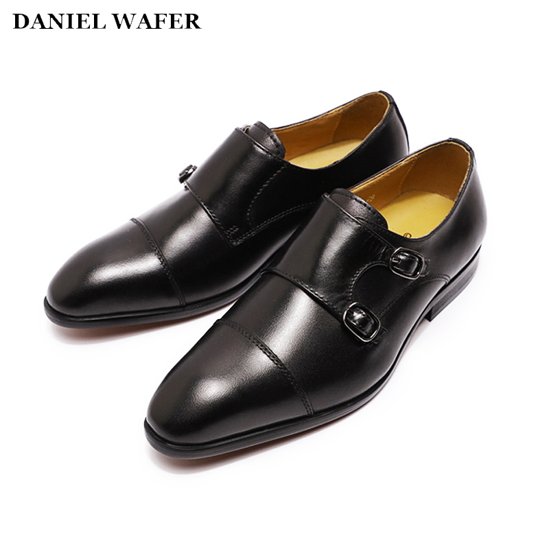 Boys Fashion Dress Shoes Genuine Leather Kids Cap Toe Party Wedding School Shoes 8 Years Old Size 12 Formal Shoe 2020 Summer