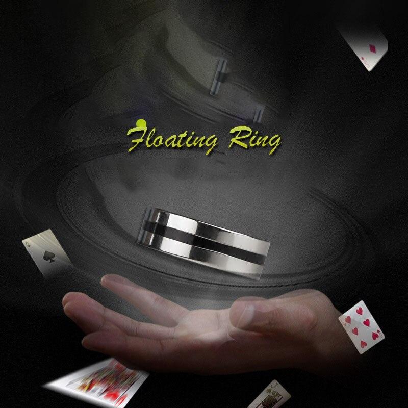 1Set Fashion Novel Magic Tricks Toys Creative Floating Finger Ring Practical Jokes Street Magic Props Poker Ring Sets