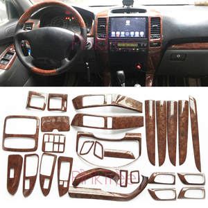 Interior Wooden Color Moulding Trim Panel Cover Car Styling 2003-2009 For Toyota Land Cruiser 120 Prado FJ120 Accessories