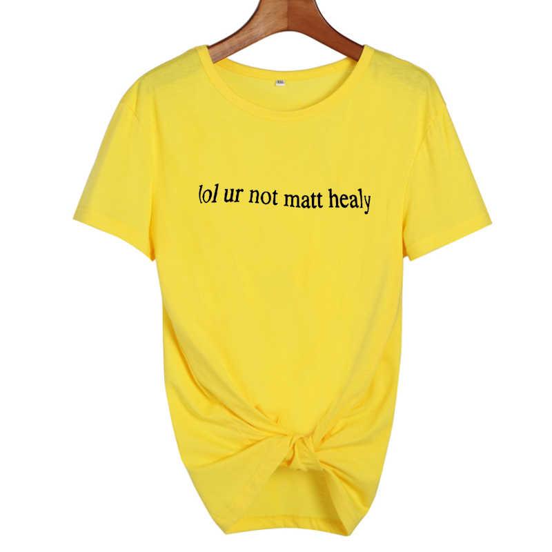 Lol uw niet mat healy de 1975 cool t-shirt tumblr hipster vrouwen t-shirt punk rock street fashion zwart wit tee shirt femme