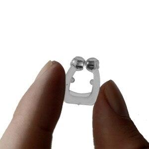 Image 5 - 100 adet Anti horlama cihazı sıcak satış horlama durdurma burun mandalı silikon manyetik uyku gürültü koruma kılıfı