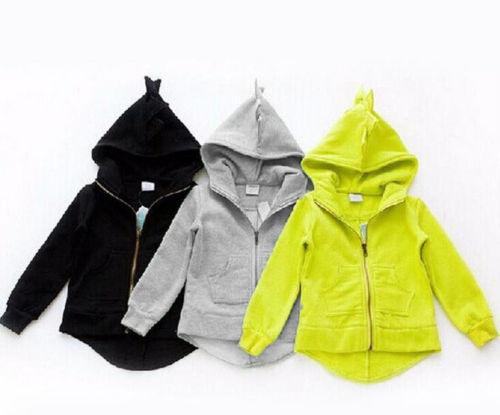 2019 Pudcoco Baby Kids Clothes Sweatshirts For Boys Girls Hoodies Children 3 Color Dinosaur Animal Cartoon Hooded Sweatshirts