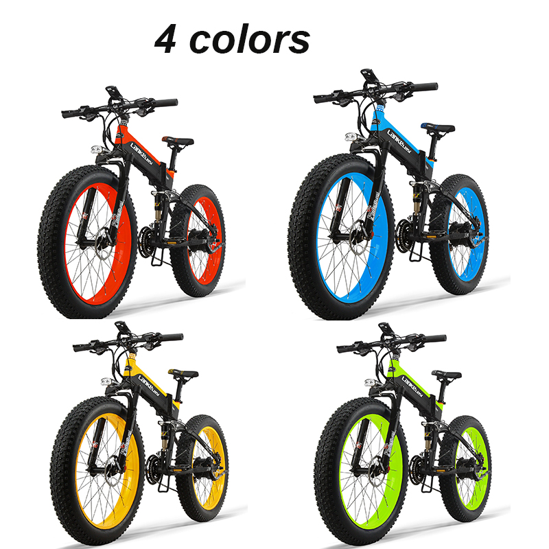 Ce Zertifikat Lange Radfahren Rangefolding Ebike 26 zoll Fett Reifen Mountainbike 48V Fahrrad Elektrische Bike 1000W Leistungsstarke günstige