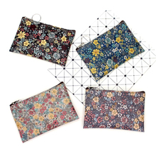 Casual Vintage Small Floral Coin Purse Waterproof Cotton Fabric Women Small Square Change Pouch Card Holder Mini Wallets Bags