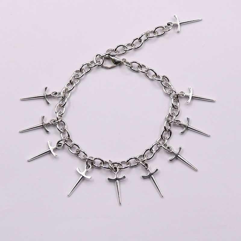 2020 nowy sztylet bransoletka Charms fajne nadprzyrodzone miecz nóż Pendan moda prezent biżuteria punkowa kobiety artystyczne etniczne gwiazda