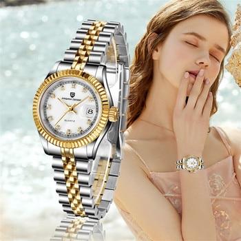 PAGANI DESIGN Women Watch Sapphire Top Luxury Brand Lady wristwatches stainless steel Waterproof Quartz clock Relogio Masculino