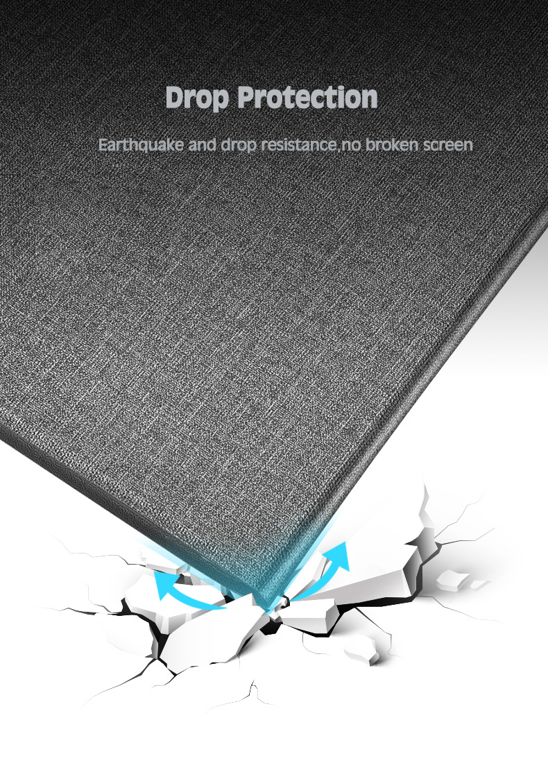 Th for PU Apple A2198 7 A2200/A2198/A2232/.. Silicone Tablet-Case Gen iPad Soft-Cover