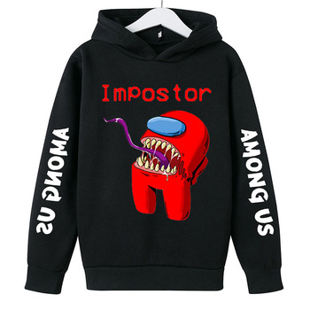 New 4 To 14 Yrs Game Among US Boys Girls Hoodies For Teens Cotton Impostor Graphic Funny Spring Autumn Clothes Sudadera 1