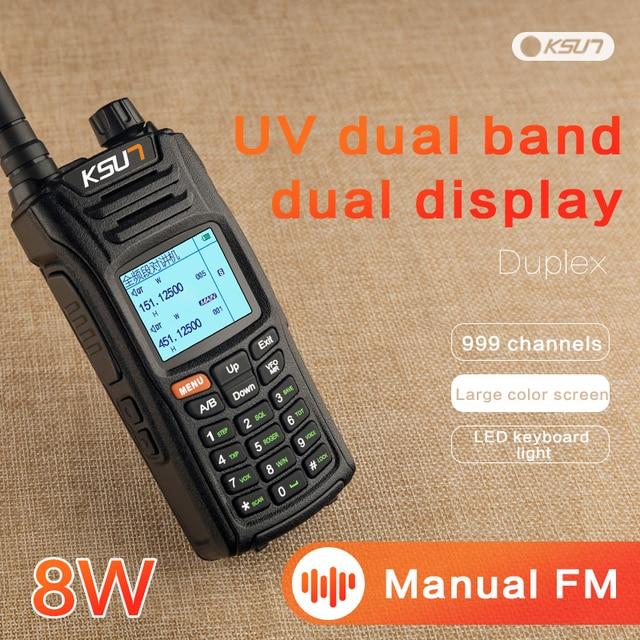 KSUN X UV68D(MAX) bộ Đàm 8W Cao Cấp 2 Băng Tần Cầm Tay 2 Chiều Hàm Đài Phát Thanh Giao Tiếp HF Thu Phát Nghiệp Dư Tiện Dụng