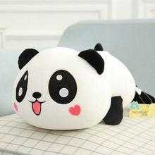 20CM Panda Teddy Bear Stuffed Animal Plush Soft Toy Kids Baby Gift White Black Cushion panda shaped plush pp cotton toy white black