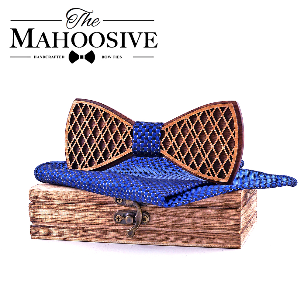 Fashion Groom Wooden Bow Tie Set Butterfly Men Party Bow Ties For Men Decor Gentleman Bow Ties Modeling Party Bow Tie