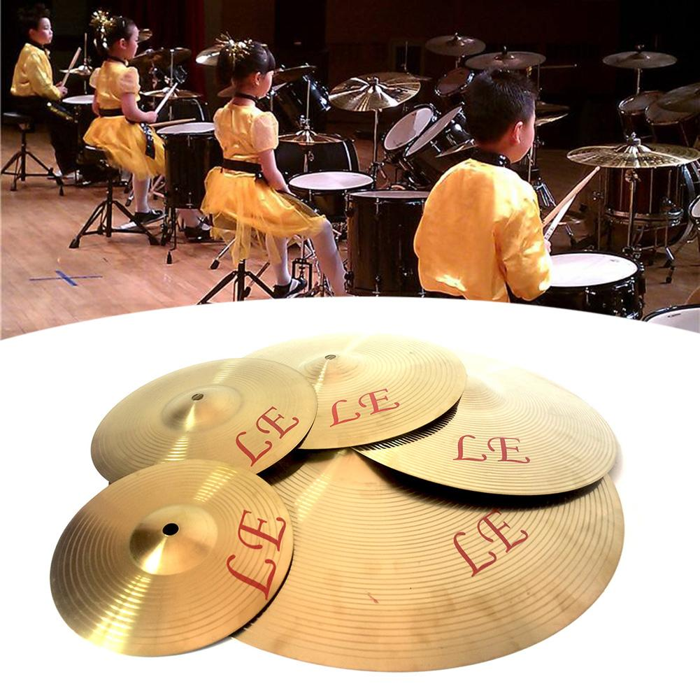 8/10/12/13 Inch Copper Alloy Crash Cymbal Drum Instrument Cymbals For Drums For Players Beginners Percussion Instruments