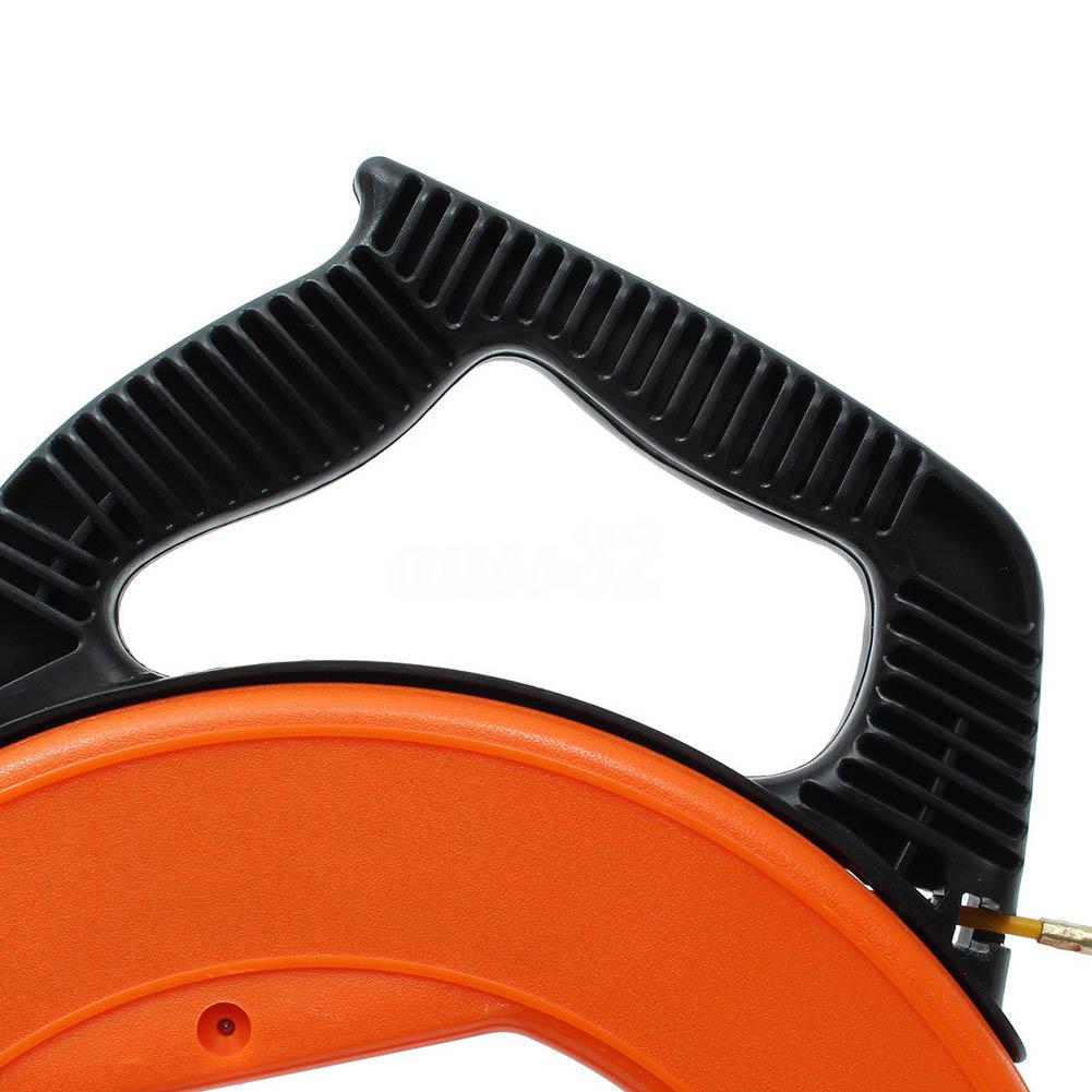 30Meter Fiberglass Fish Tape Reel Puller Conduit Ducting Rodder Pulling Wire Cable Fishing Tool AC889