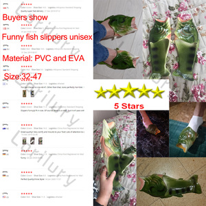 Funny Slippers Man Footwear Family House Shoes Men Large Size 33-47 Summer Beach Slippers Boys Unisex Fish Slippers Men 2020