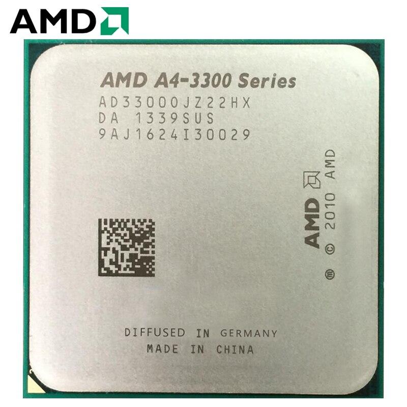 PC AMD A4-Series A4-3300 A4 3300 Dual-Core CPU 65W 2.5GHz 100% Working Properly Desktop Processor FM1