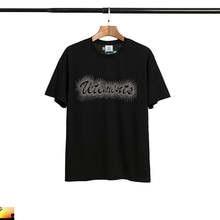 Camiseta vetements design solto algodão bronze noite céu estrelas homem e mulher manga curta vtm t camisa