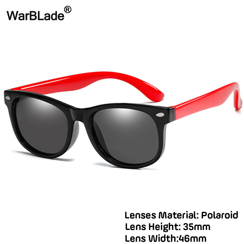 WarBlade Fashion Kids Polarized Sunglasses Boys Girls Children Sun Glasses TR90 Silicone Safety Glasses Baby Eyewear UV400 Oculo