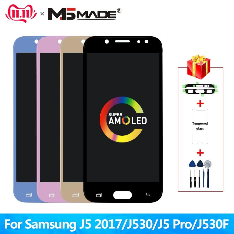 Super Amoled LCD Für Samsung Galaxy J5 2017 J530 J530F LCD Display Touchscreen Digitizer Montage lcd für J5 Pro 2017 J5 Duos