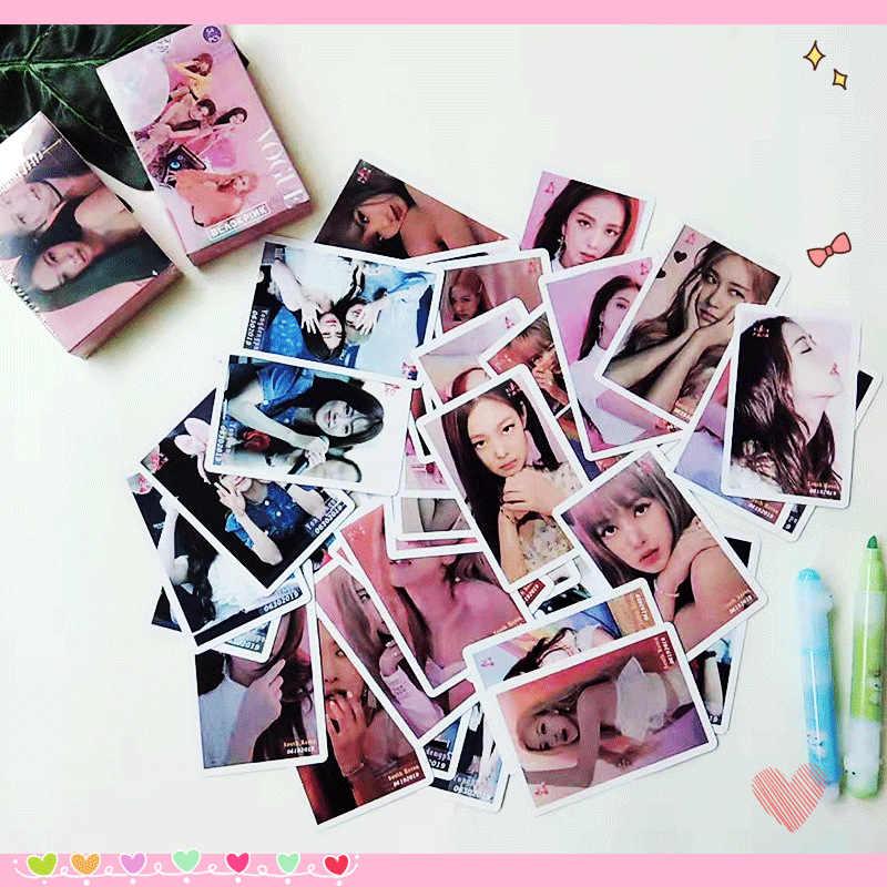 54 Cái/bộ Kpop Blackpink Lomo Card Album Mới Thẻ Hình Ảnh Jisoo Hoa Hồng Lisa Jieene Photocard HD Album Poster K-POP Blackpink