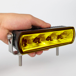 Image 4 - 6 Inch 20W Slim LED Work Light Bar Amber Fog Drive Lamps For Offroad Trucks Boat ATV 4x4 4WD Marine Trailer Driving Barra Lights