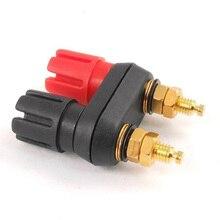 цена на SODIAL(R) Dual Female Banana Plug Terminal Binding Post for Speaker Amplifier