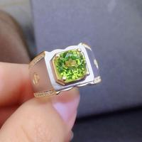 Natural And Real Peridot ring Men ring gem Natural peridot ring 925 sterling silver Wholesale Fine jewelry Gemstone