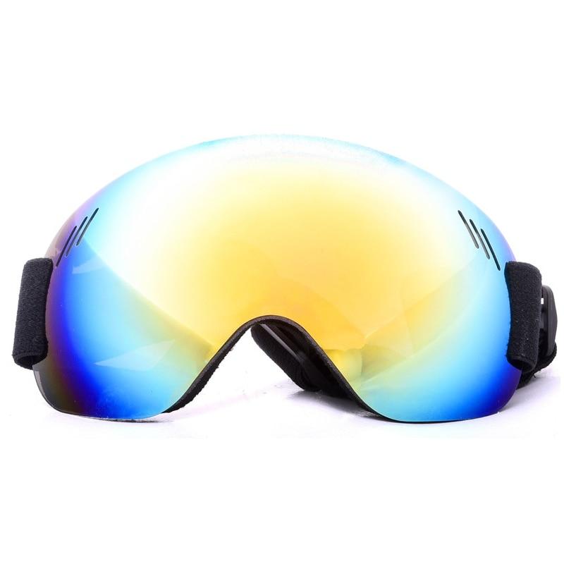 Cool Unisex Ski Goggles Ski Snowboard Goggles Anti-Fog UV Protection Spherical Lens Frameless Snow Sports Goggles For Men Women