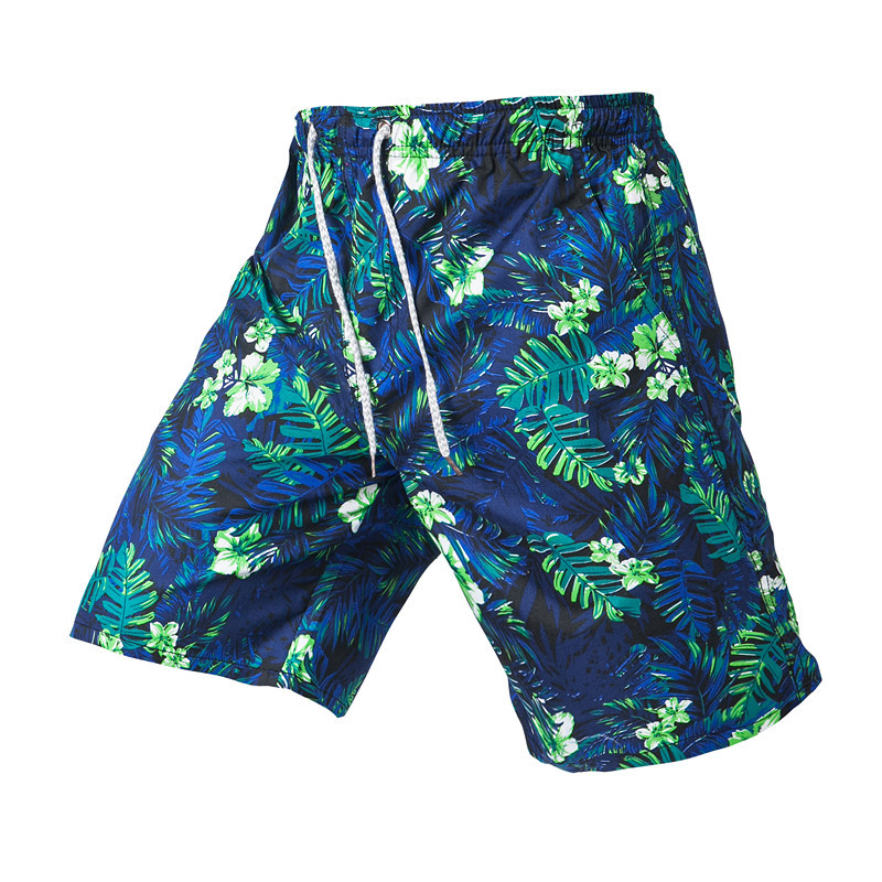 2018 Summer New Style Men's Sports Quick Drying Pants Floral Printed Large Size Beach Shorts Casual Large Size Shorts Men's Fash