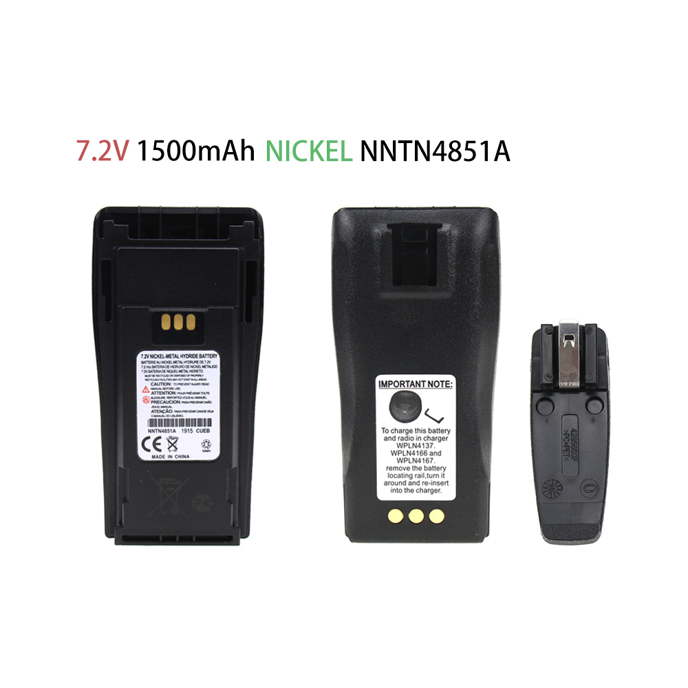 2-Way Radio Replacement Battery 7.2V 1500mAh NICKEL For Motorola NTN4496 And CP040, 140, 160, 200 Radios
