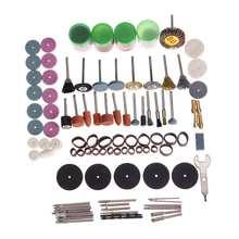 161 sztuk Mini wiertarka Multi Rotary Tools szlifowanie polerowanie zestawy zestaw akcesoriów do Dremel micro Drill obrotowe polerowanie