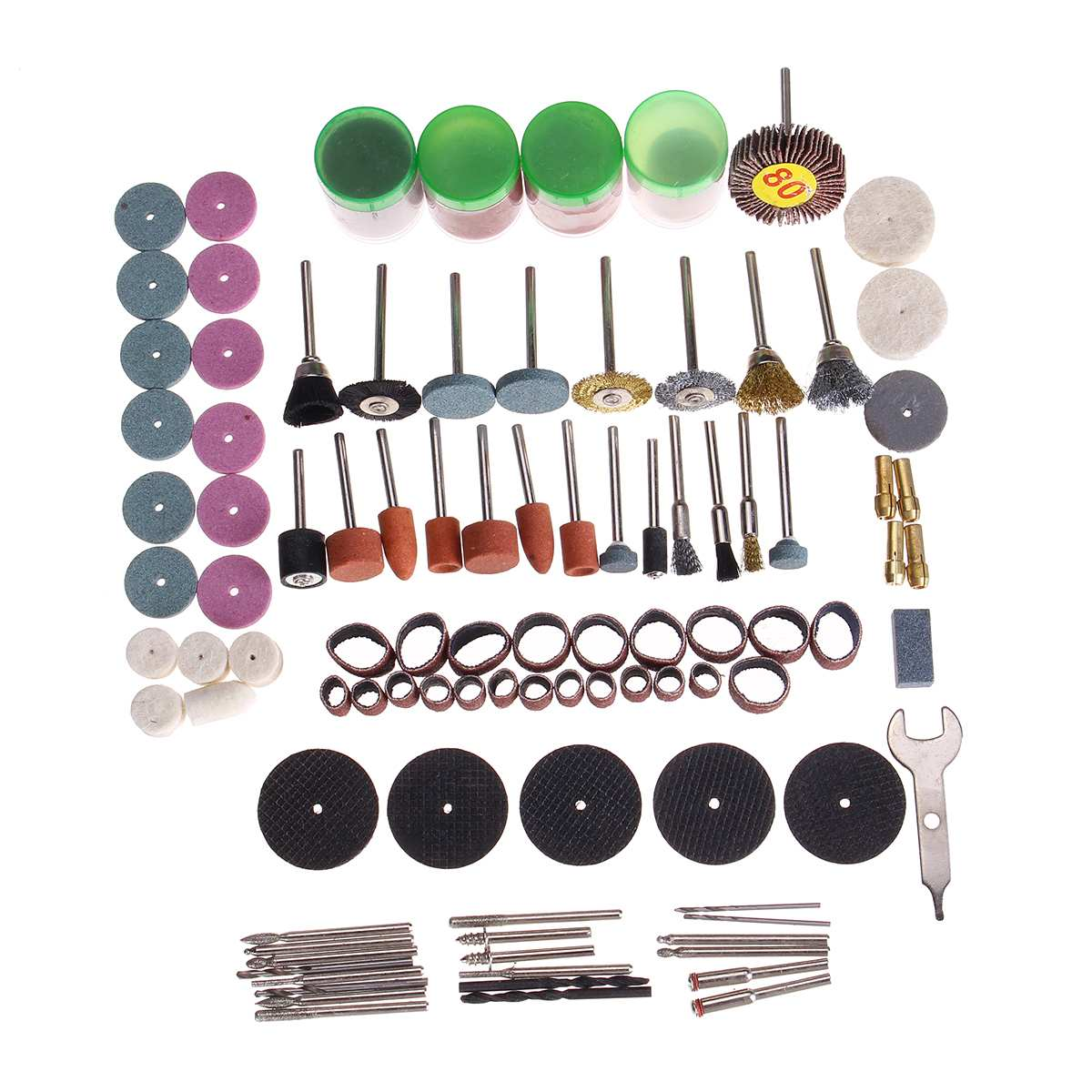 161pcs  Mini Drill Multi Rotary Tools Grinding Polishing Kits Accessories Set  For Dremel Micro Drill Rotating Polishing