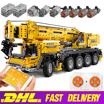 20004 APP Control Technic Truck Car Compatible With 42009 Mobile Crane MK II Building Blocks Set Kids Christmas Toy Gift image