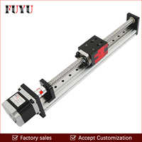 FUYU 250mm Stroke Length Linear Motion Stage Actuator Guide Rail Slide for Wood Engraving Machine