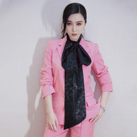 Women's pink double breasted suits set female fashion slim suits women's casual suit 2piece set suit blazer with pants recommend