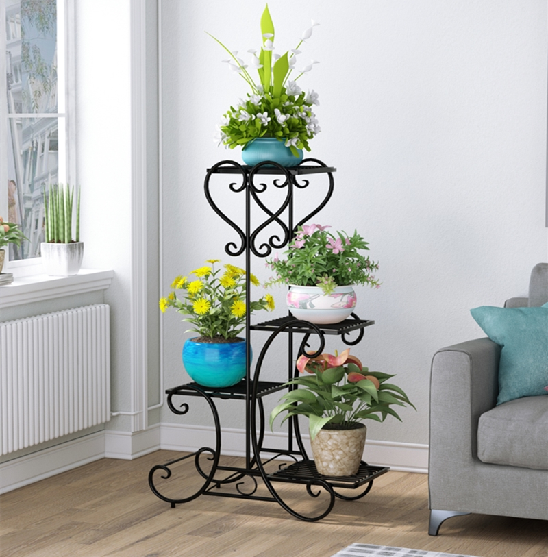 European Style More Household Art Multi-storey Indoor Balcony Flower Rack A Living Room Botany Flowerpot