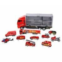 Alloy Engineering Vehicle Storage Container Transport Vehicle Model Open Door Inertia Car Children'S Educational Toys