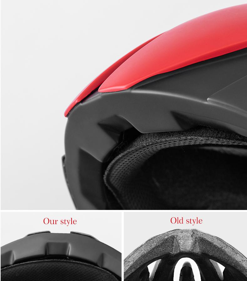 ROCKBROS Ultralight Bike Helmet Cycling EPS Integrally-molded Helmet Reflective MTB Bicycle Safety Hat For Men Women 57-62 CM
