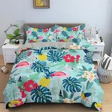 Комплект постельного белья с 3d принтом в виде листьев роскошное