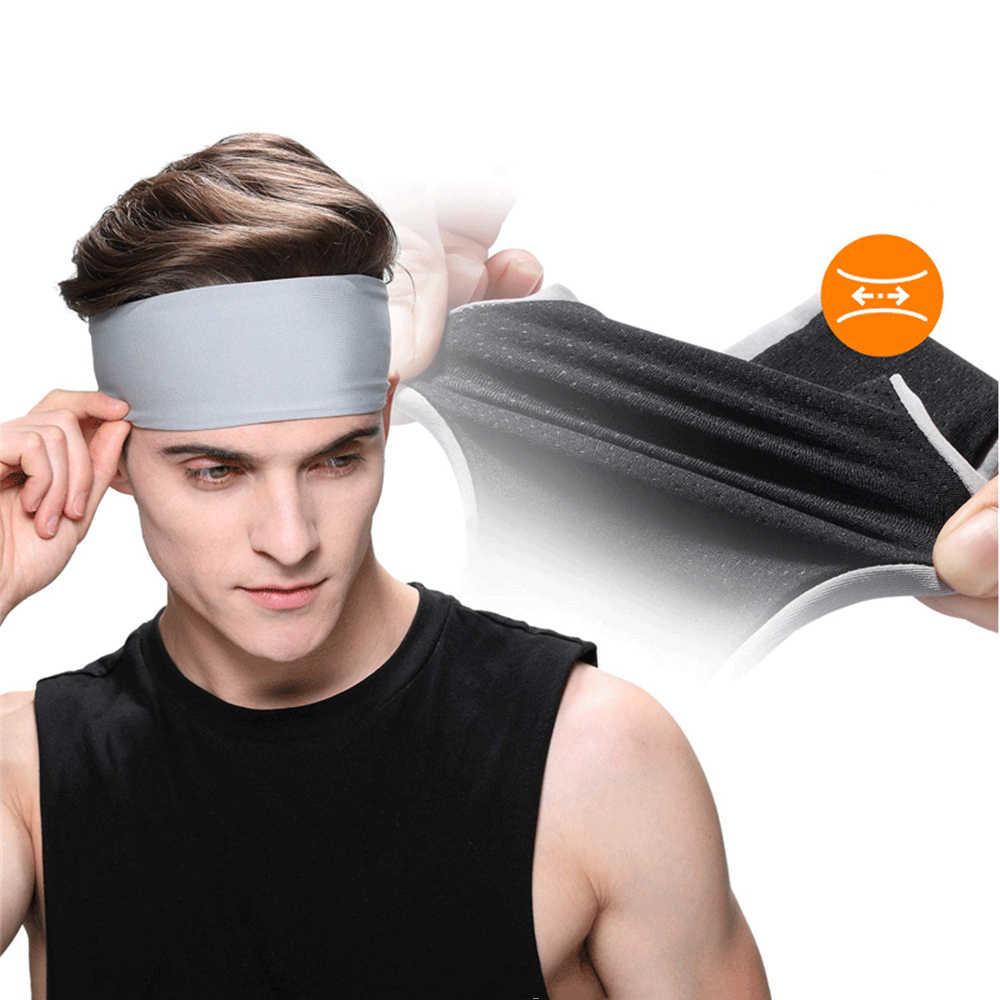 Sweatband для мужчин и женщин эластичная Спортивная головная банда для волос повязки на голову для йоги головные уборы спортивные аксессуары для волос повязки безопасности