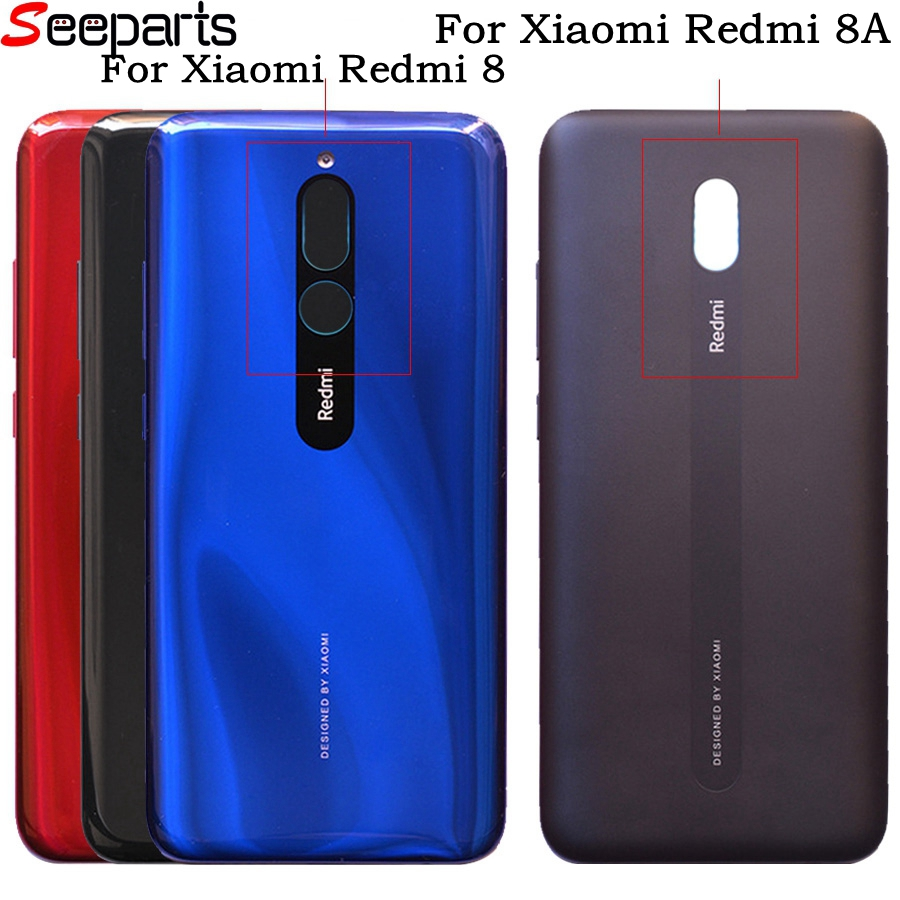 For Xiaomi Redmi 8A Back Battery Cover For Redmi 8 Back Glass Door Housing For Redmi 8 Battery Cover Rear Panel